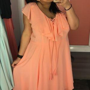 Torrid // Peach Flowing Spring Dress